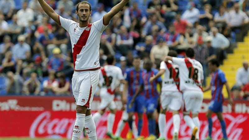 Rayo's first win in six games lifts them into eighth spot in the Primera Division [EPA]