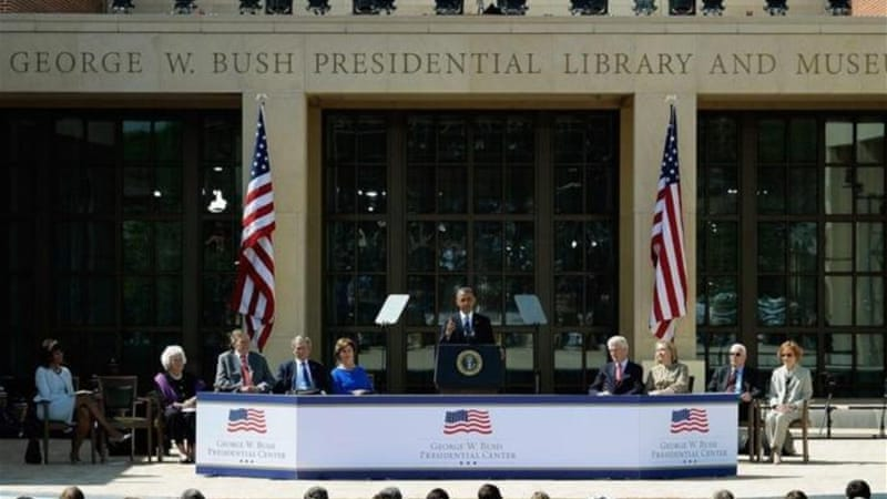 """After American legions invaded Iraq, during George W Bush's crusade against an imaginary enemy, thousands of books in the Library of Baghdad were reduced to ashes,"" writes Eduardo Galeano [Getty Images]"