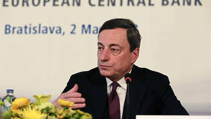 ECB head Draghi says cut in interest rates should contribute to support prospects for a recovery [Reuters]