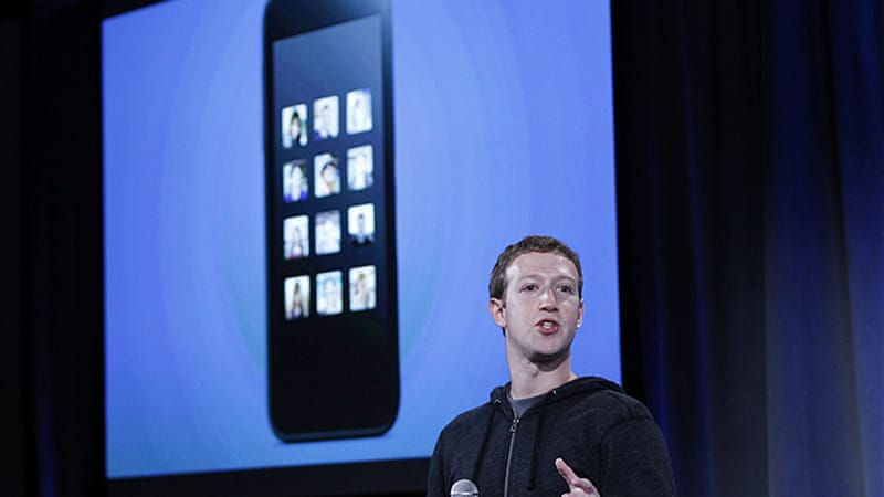 Zuckerberg intends to push out Facebook's Home software, which puts the servive centre-stage on phones [Reuters]