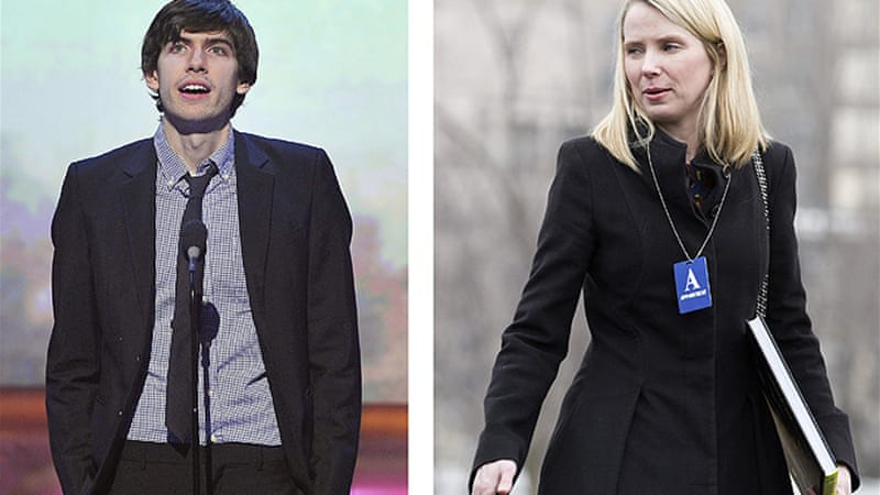 "Yahoo chief, right, has praised Tumblr founder Mark Karp, calling him one of the most ""inspiring entrepreneurs"" [Reuters]"