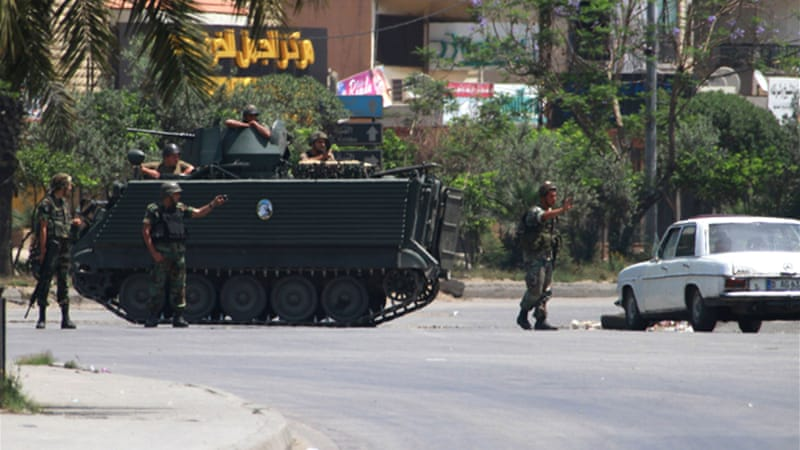 The Lebanese army has been deployed in Tripoli to keep the warring sides apart [Reuters]