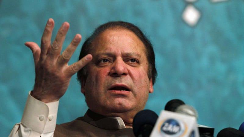Newly elected Pakistani prime minister Nawaz Sharif has asked the US to refrain from drone attacks [Reuters]