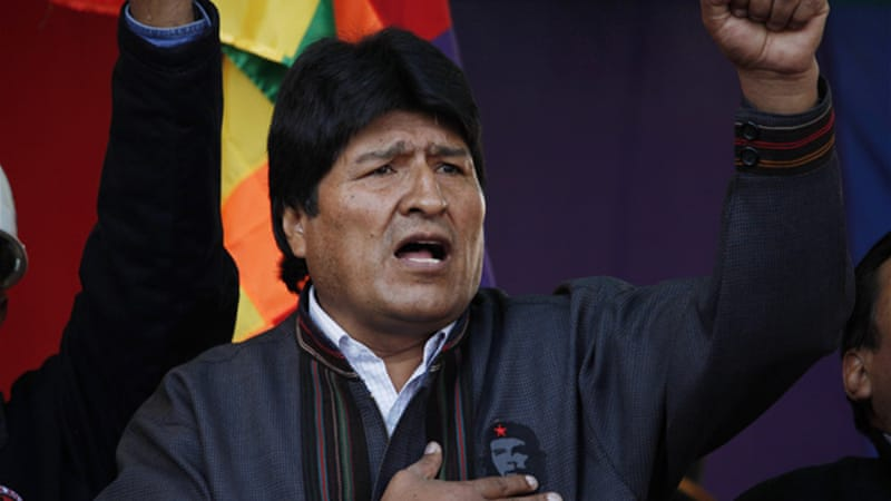 Evo Morales became Bolivia's first indigenous president in 2006 and was re-elected in 2009 [AP]