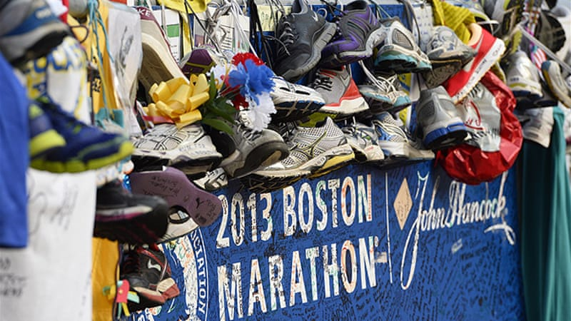 The blast at the finish line of Boston Marathon left at least three dead and more than 200 wounded [EPA]