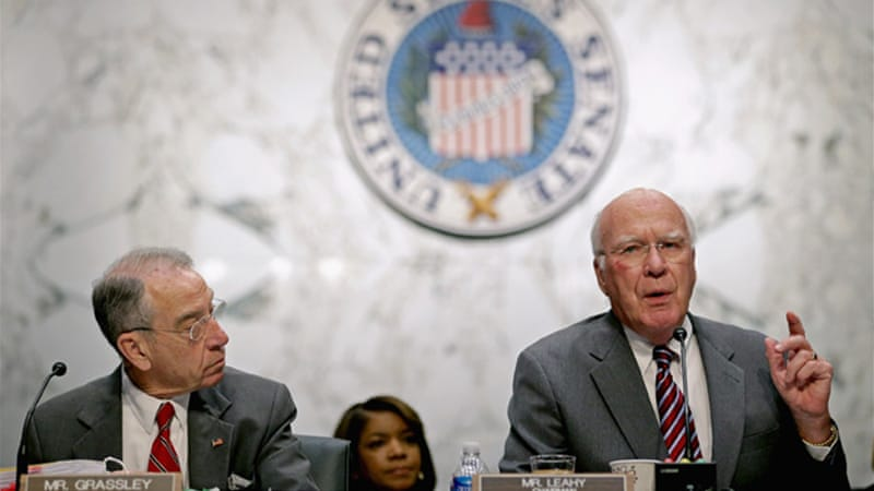 Senator Patrick Leahy forced to withdraw measure allowing gay Americans to sponsor foreign-born spouses [AFP]
