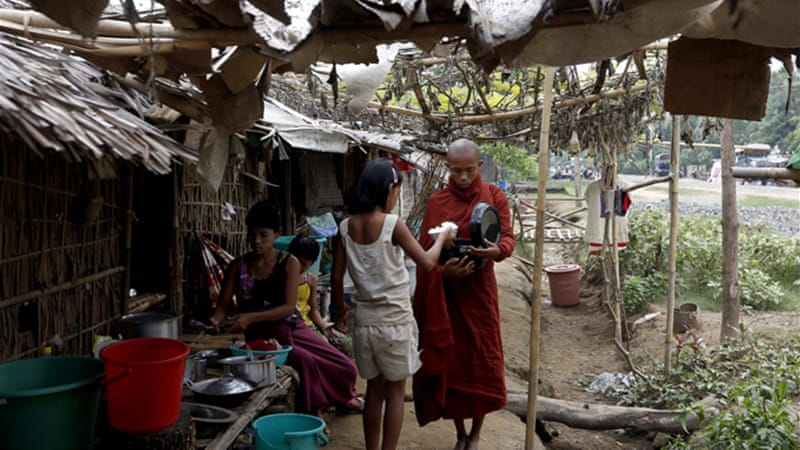 Sectarian violence first flared nearly a year ago between the region's Rakhine Buddhists and Muslim Rohingya [EPA]