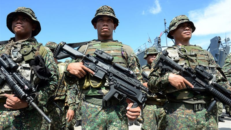 Reinforcement troops have been hunting down the fighters in the southern Sulu province [AFP]