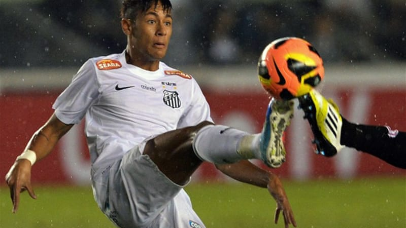 The 21-year-old Brazilian has scored 156 goals goals for Santos in four years [AFP]