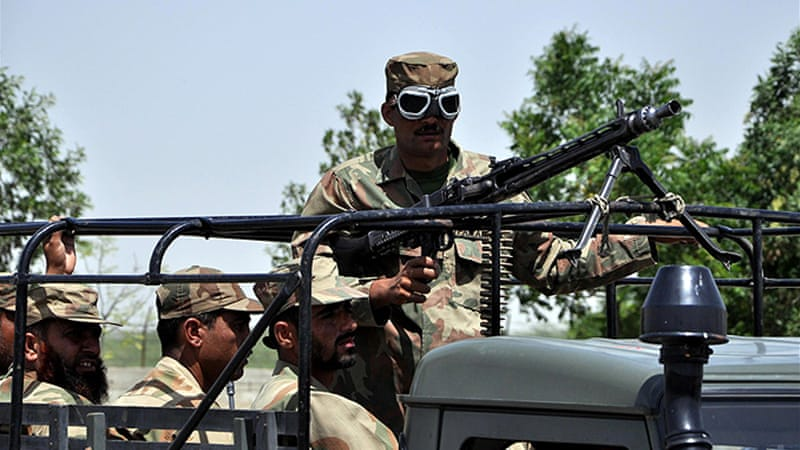 Pakistani army officials have left for Sindh province on Friday to protect polling stations ahead of the election [EPA]