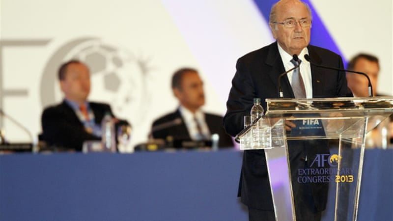 Newly elected head of the Asian Football Confederation Sheikh Salman said he would back Blatter, pictured above, for a fifth term, saying the 77-year-old was a 'supporter of Asia' [GALLO/GETTY]