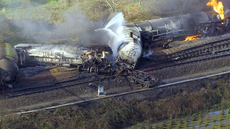 A freight train exploded on a track near Schellebelle prompting the evacuation of 300 people [AFP]
