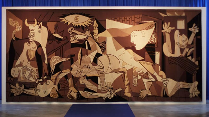 This tapestry replica of Picasso's 'Guernica' was formerly displayed in the United Nations' New York headquarters. Cultural rights will now be treated by the UN with the same importance as political rights [GALLO/GETTY]