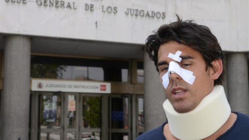 Bernard's training partner Thomas Drouet leaves court bandaged after altercation with John Tomic [AFP]