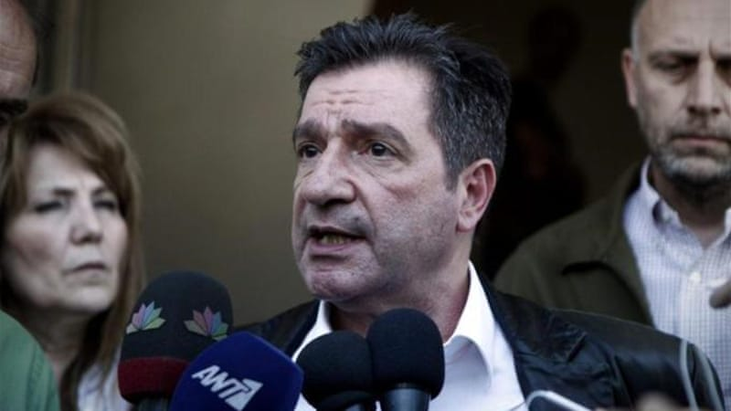 Athens' Mayor Giorgos Kaminis was assaulted after he stopped Golden Dawn's Greek-only food handout [EPA]