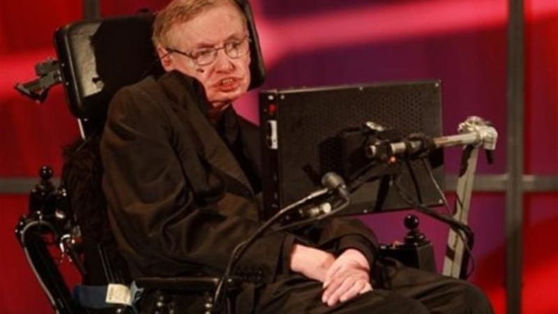 British cosmologist Stephen Hawking had been due to speak at a high-profile conference in June organised by Israeli President Shimon Peres [AP]