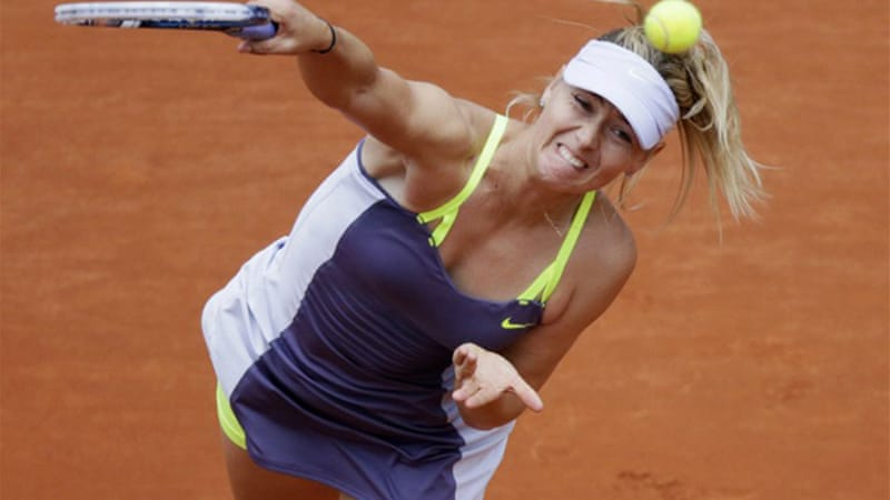 Sharapova completed a career Grand Slam by winning the French Open last year but was made to work by China's Zheng Jie on Saturday [AFP]