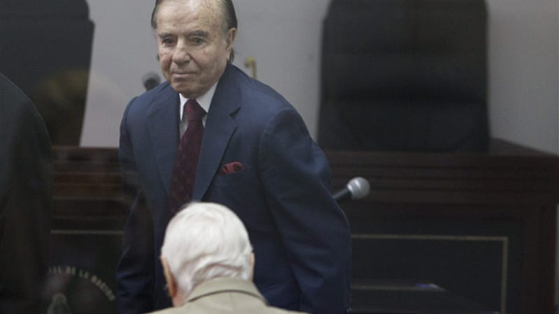 An economic tribunal in Buenos Aires has also banned Menem, a current senator, from holding elective office [EPA]
