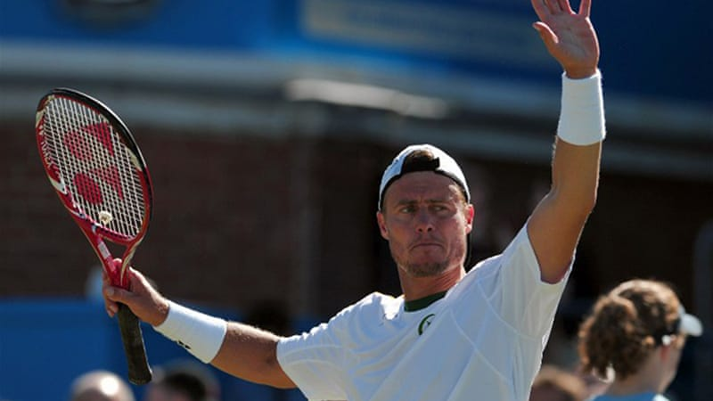Former Wimbledon champion Hewitt will face Marin Cilic in the last four [AFP]