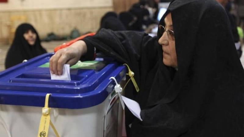 Iranians have been voting for the six candidates approved by the powerful Guardian Council [EPA]