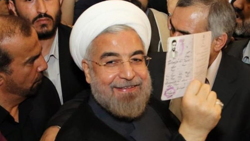 """There is no direct relationship between the election of Hassan Rouhani and the prolonged imposition of economic sanctions on Iranians,"" writes Hamid Dabashi [EPA]"