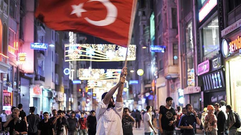 The protests against Prime Minister Erdogan's leadership had spread quickly across the nation  [AFP]