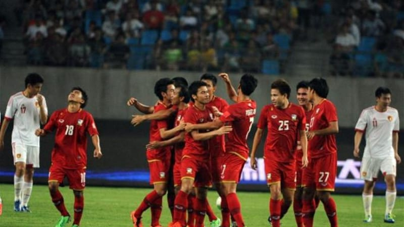 A new low: The most populous nation in the world were thrashed 5-1 by a young Thai team [AFP]