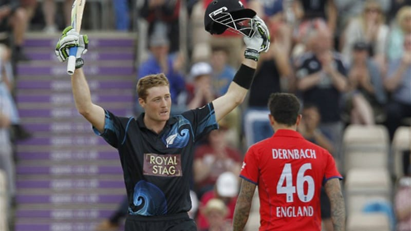Guptill hit the equal fifth highest score in a one-day international cricket match with his knock at the Rose Bowl [AFP]