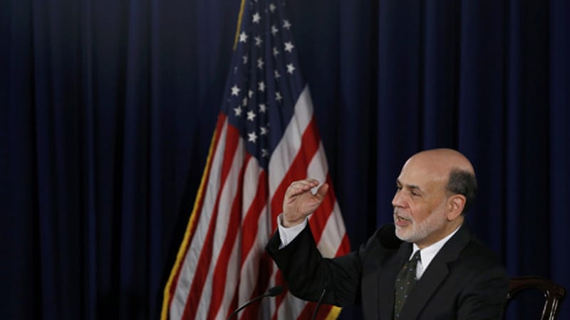 Bernanke said reduction of purchases would occur in 'measured steps' and could end by mid-2014 [Reuters]