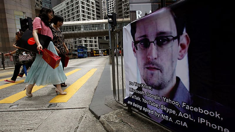 Snowden, now in Hong Kong, has reportedly sought help from rights lawyers to fight US extradition efforts [Reuters]