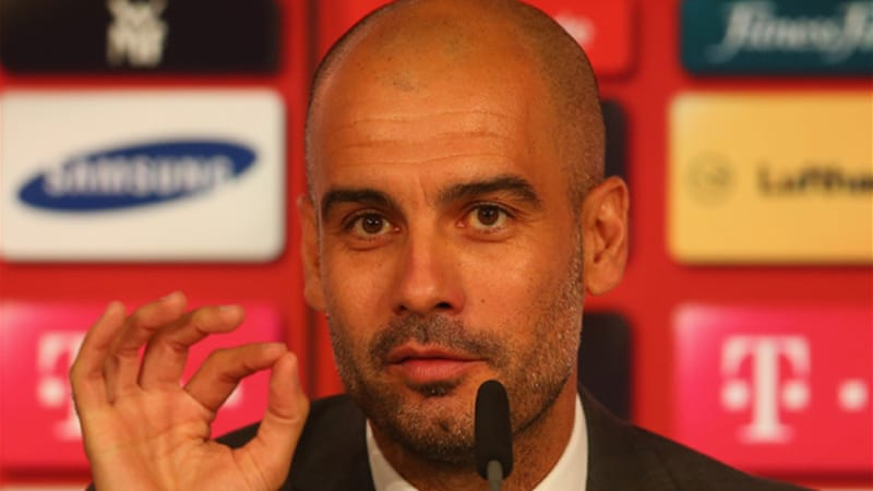 Guardiola took a year out after leaving Barcelona before signing for the European Champions [GETTY]