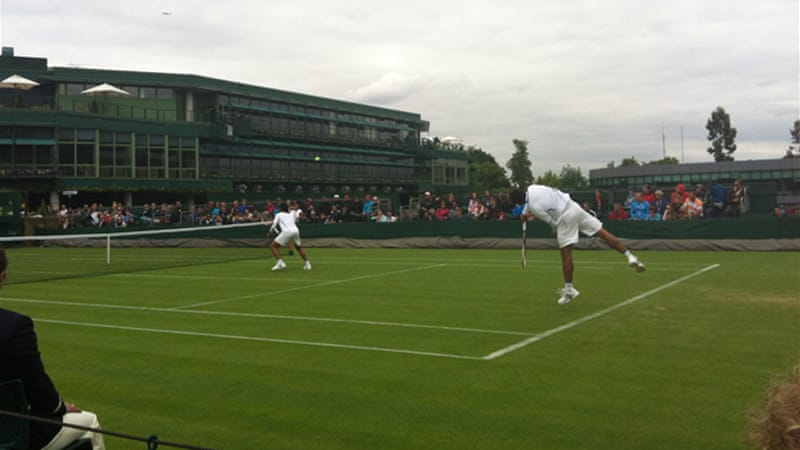 The Ratiwatana brothers beat their Slovakian opponents on Monday to progress to the second round [Jo Tilley]
