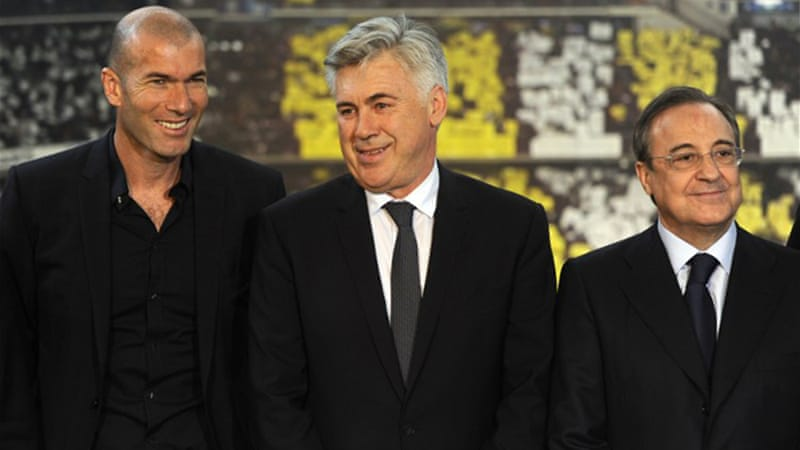 Ancelotti confirmed former France and Real midfielder Zidane would be one of his assistants [AFP]