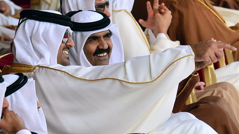 Sheikh Tamim has been groomed for the position of emir since 2003, when his elder brother stepped aside [EPA]