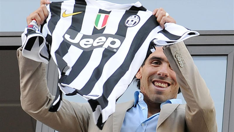 Tevez will wear Alessandro Del Piero's old No. 10 shirt [EPA]
