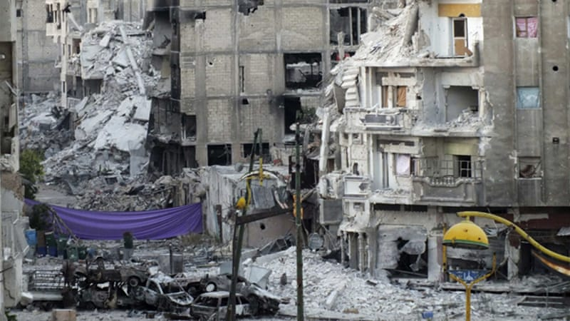 Government forces have reported 'great progress' in the Khalidiya district of Homs [Reuters]