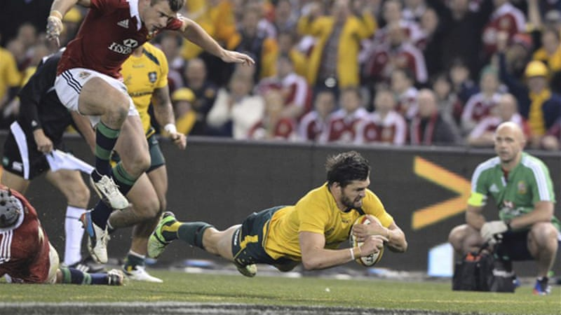 The Lions held the Wallabies at bay until Adam Ashley-Cooper scored the only try of the match [AFP]