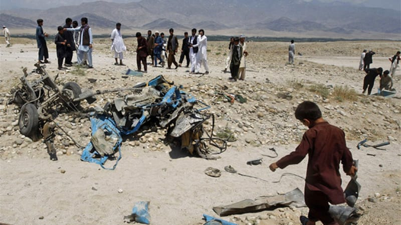 A roadside bomb killed seven civilians in a separate attack in Laghman province on Monday [Reuters]