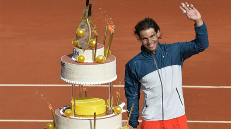 Seven-time champion Rafael Nadal marked his 27th birthday with victory over Japanese 13th seed Kei Nishikori 6-4, 6-1, 6-3 [AFP]