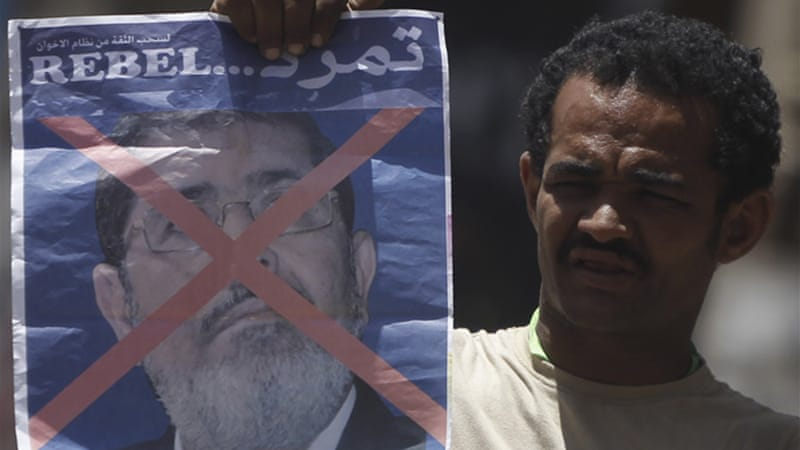 Opposition group Tamarrod has collected seven million signatures calling for Morsi to quit [Reuters]