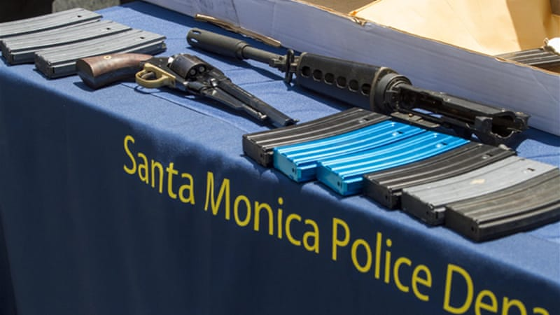 Weapons recovered from the scene of the shooting [AP]