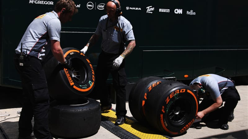 Last week's dramatic British GP saw four drivers saw their rear tires explode at high speed [GETTY]