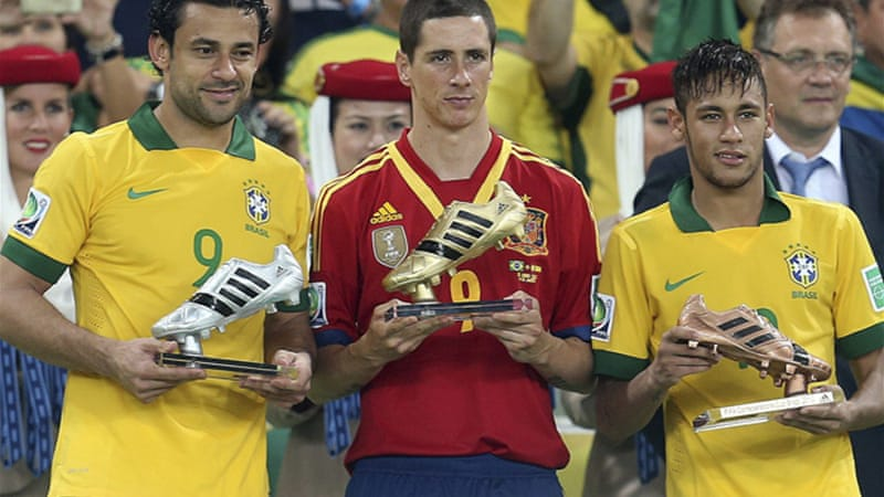 Torres was awarded the tournament's Golden Boot award for his tally of five goals [EPA]