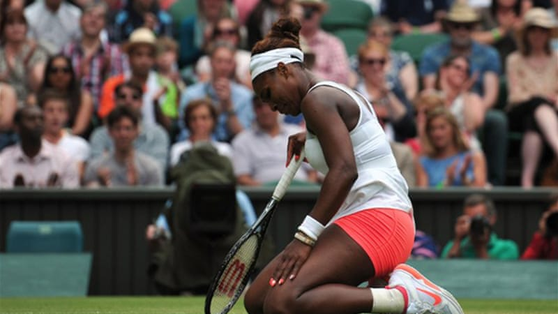 The loss ends Williams' career-best 34-match winning streak [AFP]