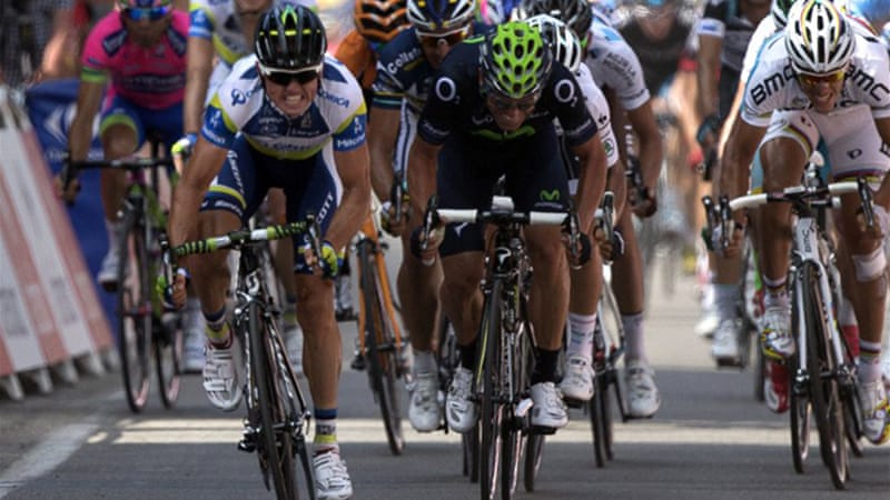 Gerrans' win is the first for an Australian in the Tour since Cadel Evans won the fourth stage in 2011 [AFP]