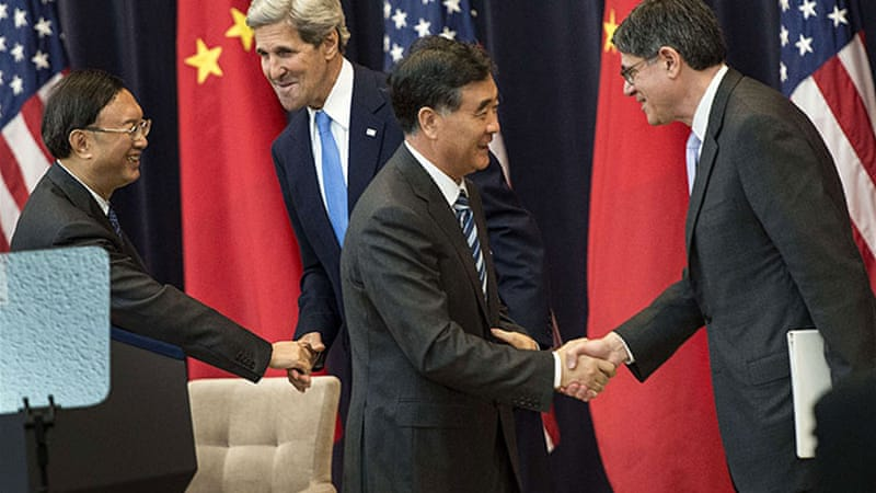US and China officials are meeting in Washington for the 5th US and China Strategic and Economic Dialogue [AFP]
