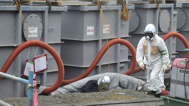 A radioactive substance,  strontium-90, is present in the groundwater at Fukushima nuclear plant [Reuters]