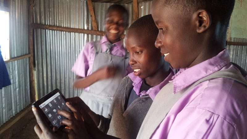 The tablets offer local digital content to engage the pupils [eLimu]