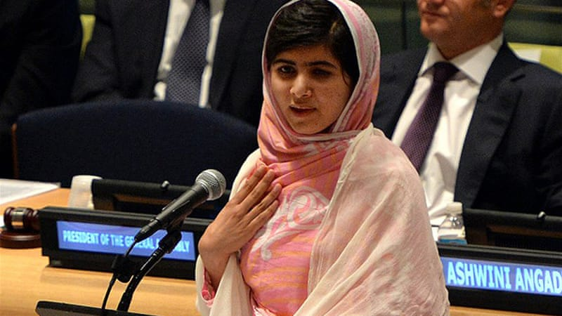 Malala addressed the UN on her 16th birthday, and she expects to meet Queen Elizabeth II later this month [AFP]
