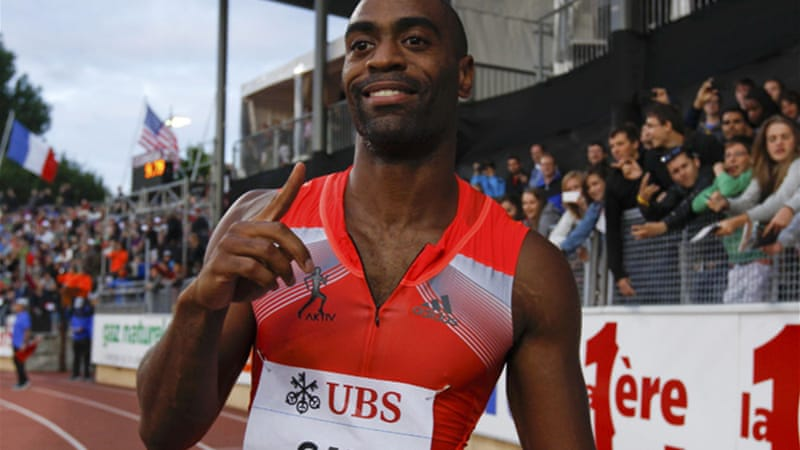Tyson Gay won the 100m event of the Lausanne Diamond League meeting in Lausanne [Reuters]